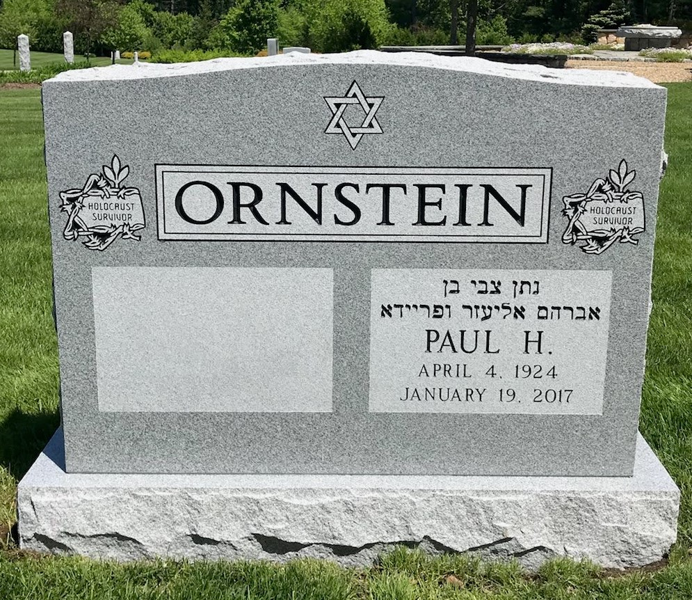 Gray-Granite-Polished-front-Holocaust-Survivor-Embelms-Ornstein